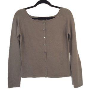 Express Silk/Cashmere Blend Taupe Cardigan